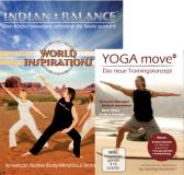 Indian Balance DVD (World Inspiration) + YOGA move DVD (Aktive E